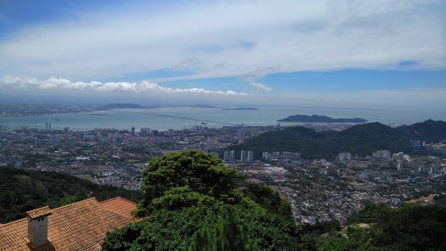 First view on Penang Hill.