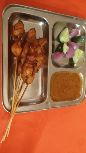 Chicken Satay with peanut gravy