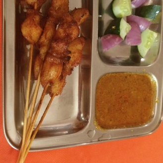 Chicken Satay with peanut gravy