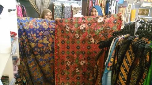 Traditional Batek Sarongs in block